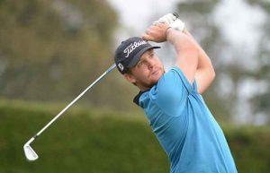 Ian Davis holds a one-shot lead heading into the final round of the Qualifying Tournament. (Enrique Berardi/PGA TOUR)