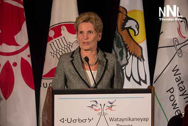 Premier Kathleen Wynne at announcement for Watay Power