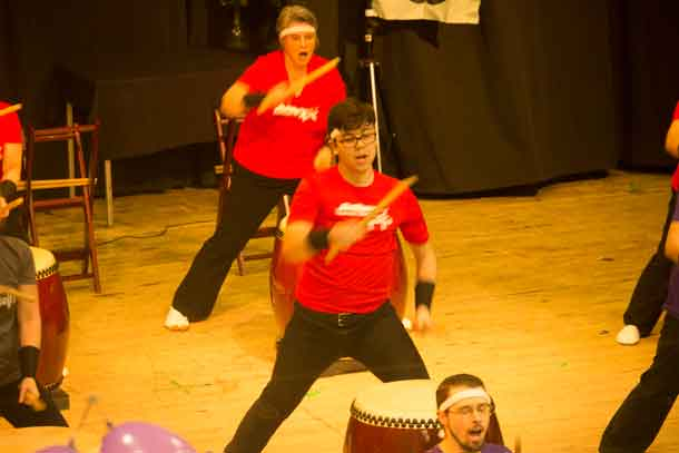 Drumming excited the crowd at the 2018 St Urho's Day celebration in Thunder Bay at the Finlandia Club