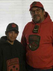 Junor Canadian Ranger Eddie Fireman and Ranger Gilbert Spence.