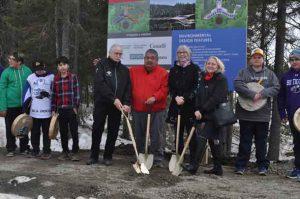 Ceremonial groundbreaking for new school