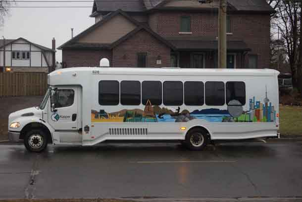 The newest bus in the Kasper Transportation fleet