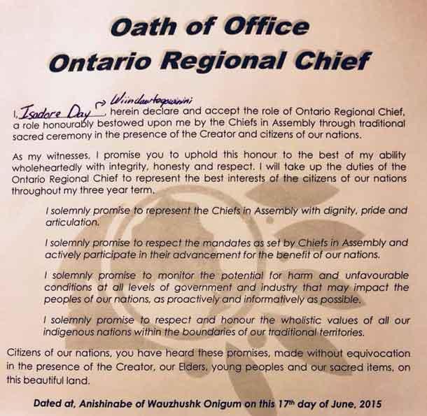 Ontario-Regional-Chief-Oath