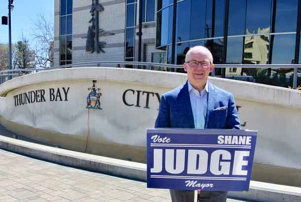 Shane Judge has announced his decision to run for Mayor of Thunder Bay
