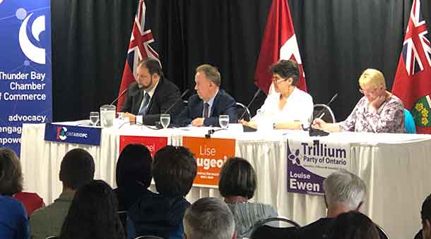 The Thunder Bay Chamber of Commerce hosted the All Candidates Forum at The DaVinci Centre