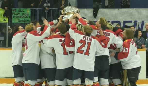 2017-2018 Dudley Hewitt Cup winners the Wellington Dukes