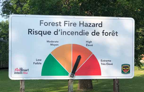 The Forest Fire Hazard heading into the weekend is high in Northern Ontario