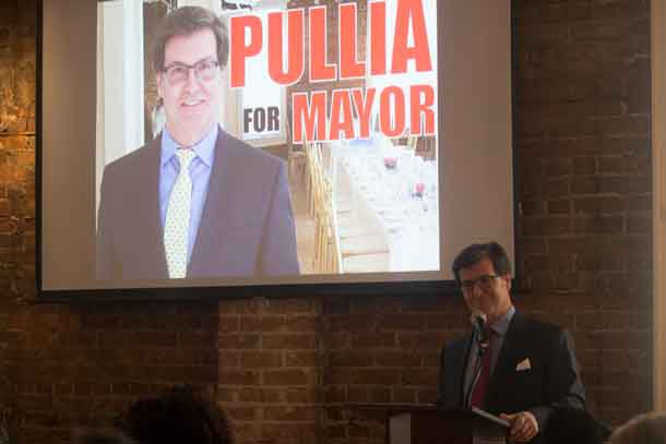 Frank Pullia has announced he is seeking the Mayor's Chair
