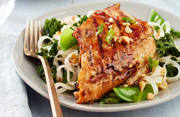Foodland Ontario - Glazed Walleye with Chili-Lime Noodles