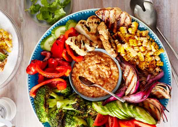 Foodland Ontario - Gado Gado - Grilled Cauliflower Steaks