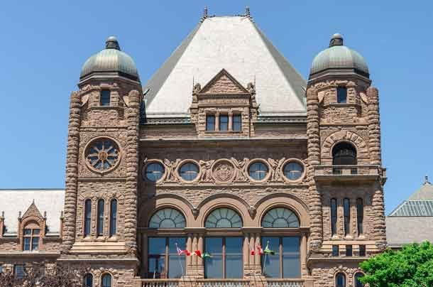 Queen's Park legislative buildings. It was designed by architect Richard A. Waite; its construction begun in 1886 and it was opened in 1893.