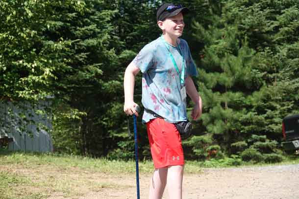 Camper Alex giving his all today as he participated in the annual capture the flag game