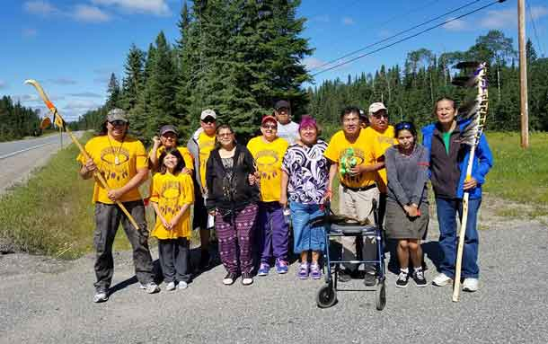 Long Lake #58 First Nation and Ginoogaming First Nation will be leading their annual healing walk in honour of people we have lost to Drugs/ Alcohol Addictions, Cancer, Missing Women/Men, Residential School/ Day School Survivors/ Descendants, Land, Water & Air, and Racism