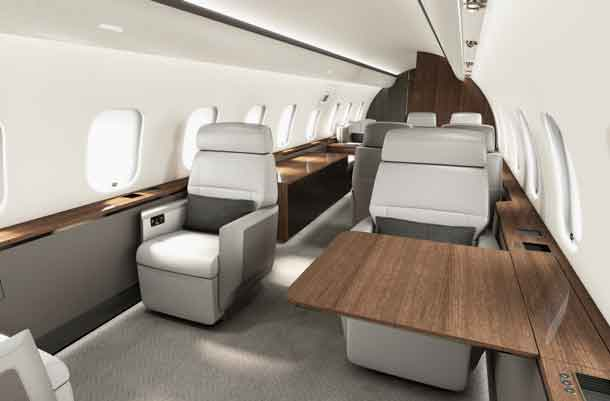 Global 5000 aircraft with Premier cabin