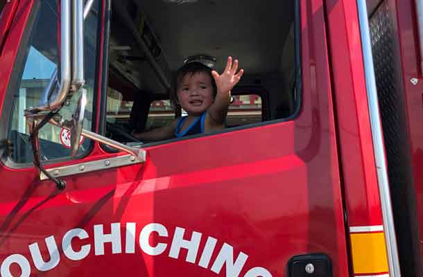 Nation wants to drive a Fire Truck in Treaty3 when he grows up