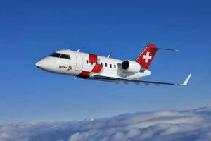 Swiss Air-Rescue Rega has chosen the Bombardier Challenger 650 aircraft for its new fleet of air ambulances.