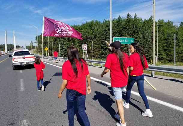The Spiritwalkers approach the Nipigon Bridge