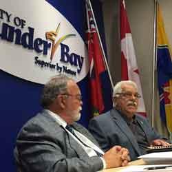 Councillors Iain Angus and Joe Virdiramo reporting on the AMO Meetings