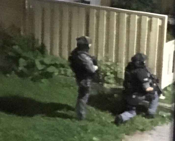 Thunder Bay Police Service Special Weapons and Tactics members on scene this morning in Windsor