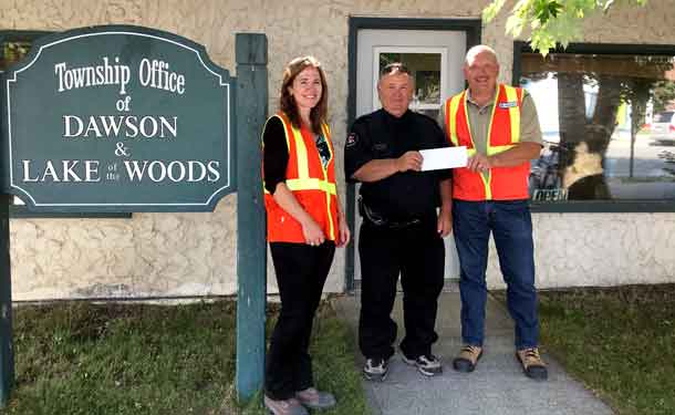 L to R: Katie Hooper, director workload planning and Northern region operations, Union Gas; Randy Asselin, fire chief, West Rainy River District Fire Service and Nick Klip, district manager Northwest, Union Gas