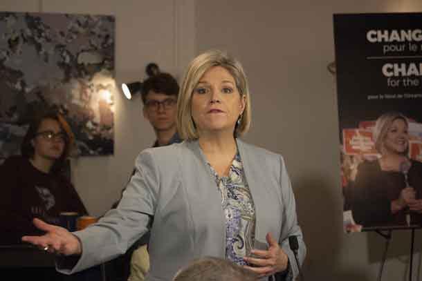 New Democratic Party Leader Andrea Horwath