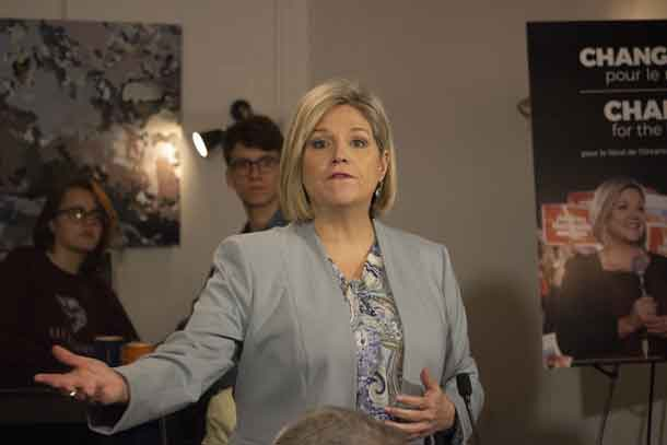 New Democratic Party Leader Andrea Horwath