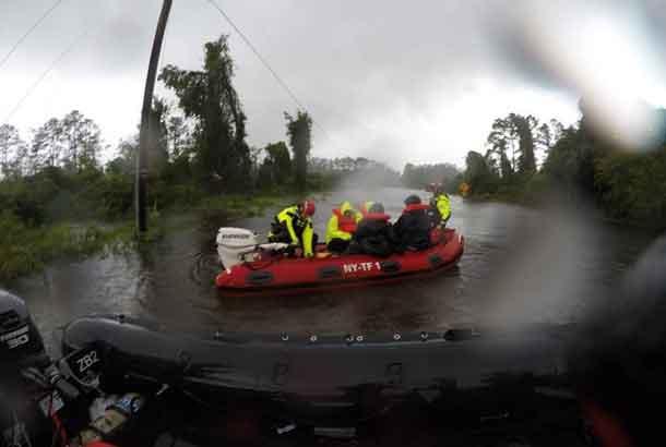Fema New York Task Force in Carolina for Hurricane Florence