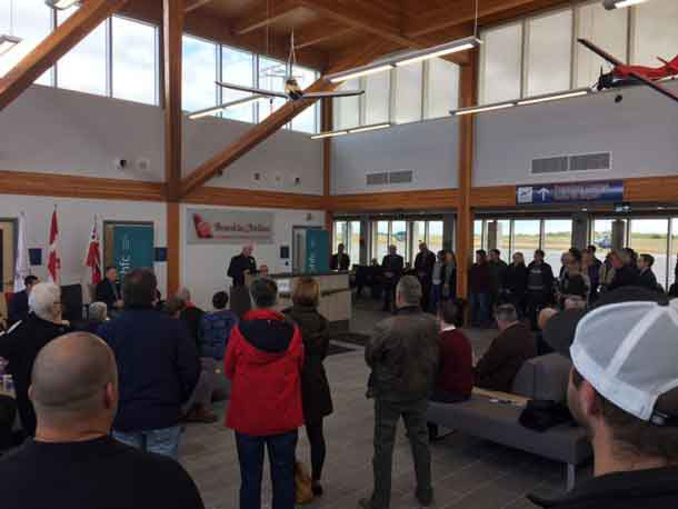 Celebrations at the Grand Opening of the Kenora Airport