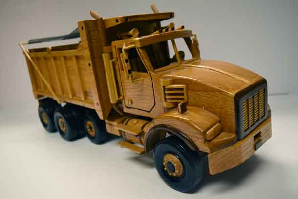 Bruce's wooden dump truck is simply amazing