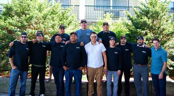 12 Graduates from the Line Crew Ground Support Program with Cameron McWhirter, RPLT Powerline Technician Training and Apprenticeship Consultant