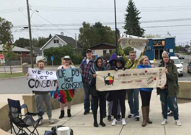 "Superior Collegiate students - ""We do Not Consent"" protest"