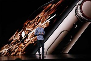 Jeff Williams at Apple Keynote on launch of the newest iPhones