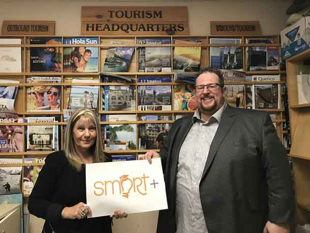 (l-r) Giannina Veltri & Matthew Villella of Confederation College's Tourism-Travel and Eco-Adventure program