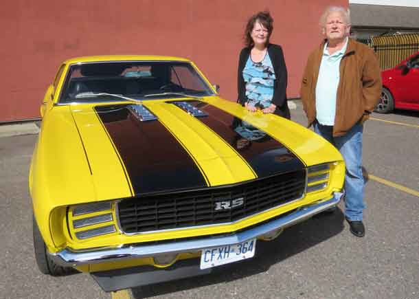 The winner of the 1969 Chevrolet Camaro RS is Ms. Jane Delksi of Thunder Bay.