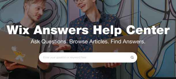Wix website support