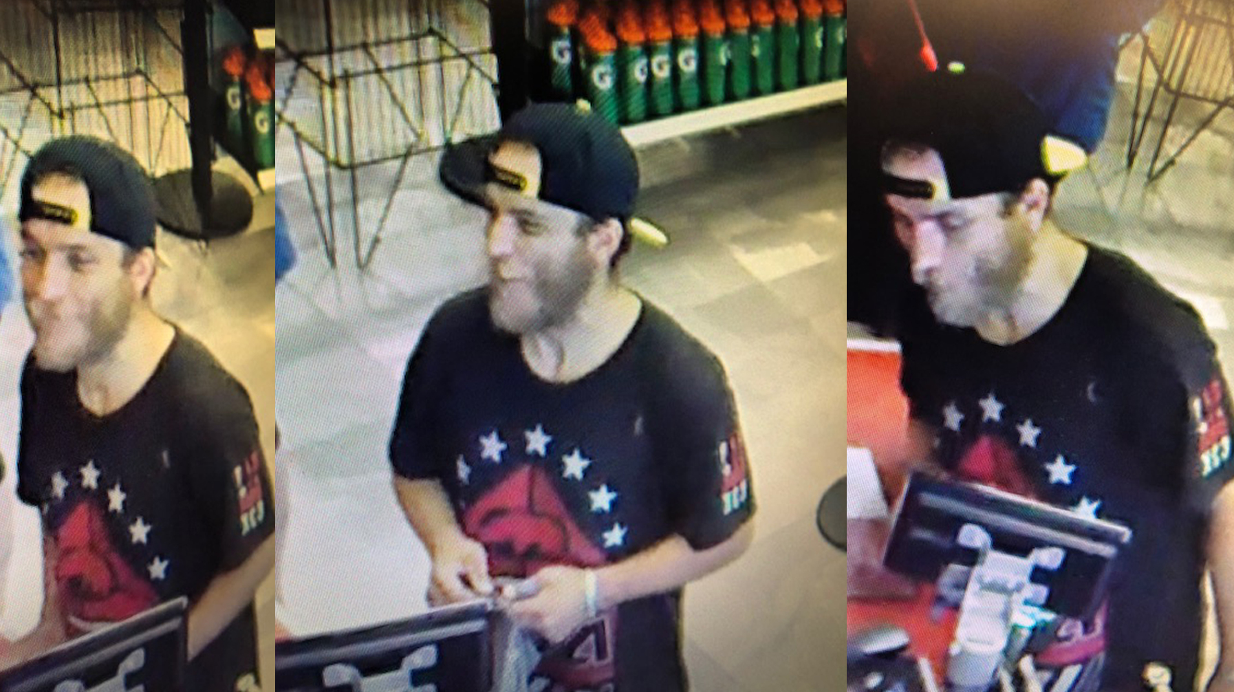 Thunder Bay Police Service Image of suspect in vehicle theft and fraud Incident # P18061354