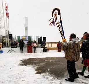 Fort William First Nation Remembrance Day 2018 - Photo by Kateri Banning