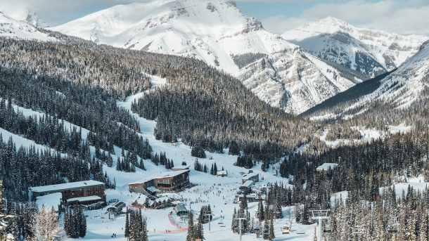 Sunshine Village in the Canadian Rockies boasts Canada's best snow