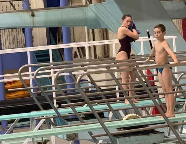 Abbey and Michael - Local divers attended provincials.