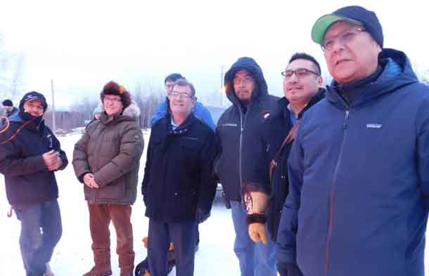 Pikangikum celebrates the connection to the power grid.