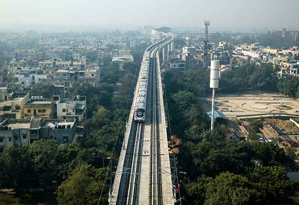 Delhi's new high-capacity line is the first driverless metro in the Indian capital