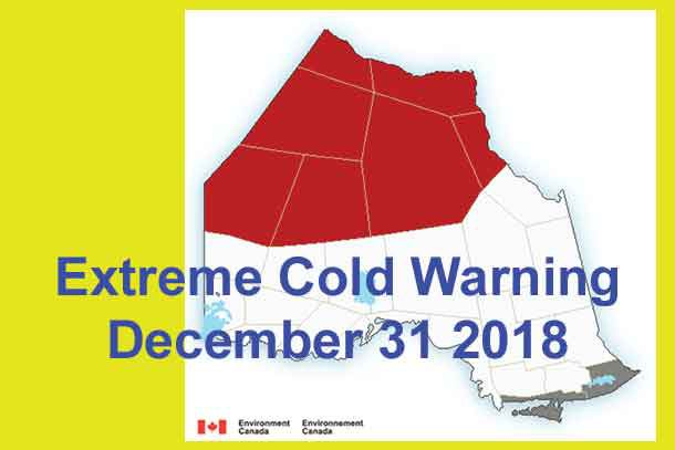 Extreme Cold Warning December 31 2018