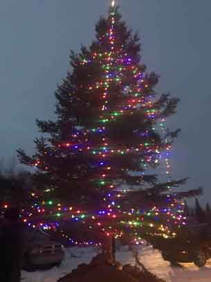 Community Christmas Tree in Pikangikum First Nation - Photo supplied by Bob Nault MP