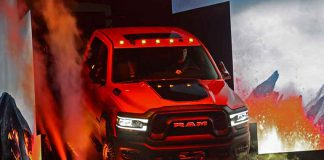 New pick up trucks on display at Detroit International Auto Show