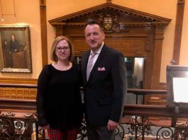 Dr. Mabermehl and Minister Rickford