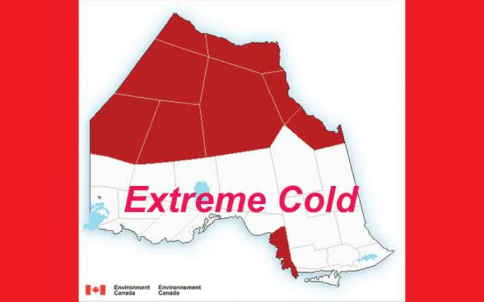 Extreme Cold Warnings continue for Far North Ontario - January 17 2019