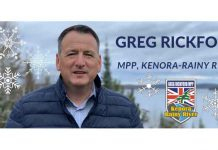 Kenora Rainy River MPP Greg Rickford Winter