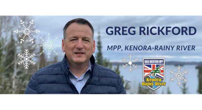 Kenora Rainy River MPP Greg Rickford Winter