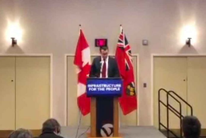 Ontario Infrastructure Minister Monte McNaughton makes announcement in Thunder Bay