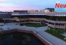 Lakehead University Campus with Lake